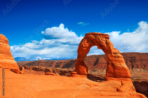 Aluminium Prints Drought Delicate Arch in Arches National Park, Utah.