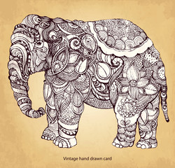FototapetaDecorative elephant
