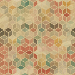 Fototapeta Wzory geometryczne Seamless retro geometric pattern.