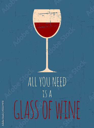 Papiers peints Affiche vintage Retro Red Wine Poster