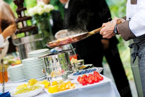 Fotografie, Obraz  wedding catering