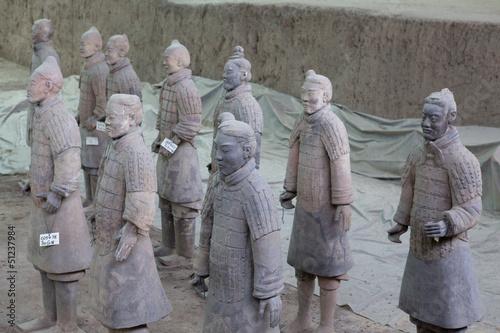 Spoed Foto op Canvas Xian esercito terracotta xi'an