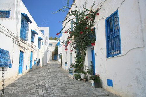 Photo sur Aluminium Tunisie Street in Sidi Bou in Tunisia