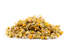 Pile Of Chamomile Isolated On ...