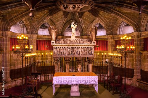 Fotografía Crypt St Eulalia 4th Century Martyr Catholic Barcelona Cathedral