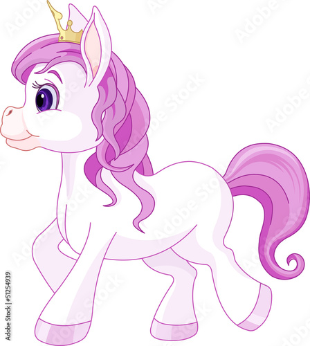 Garden Poster Pony Cute horse princess walking