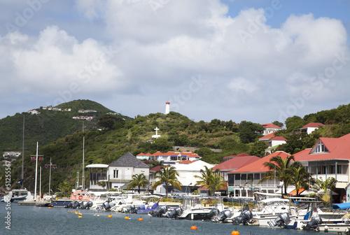 Fotografie, Obraz  Waterfront at Gustavia Harbor, St Barths.