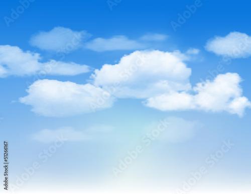 Papiers peints Ciel Blue sky with clouds.