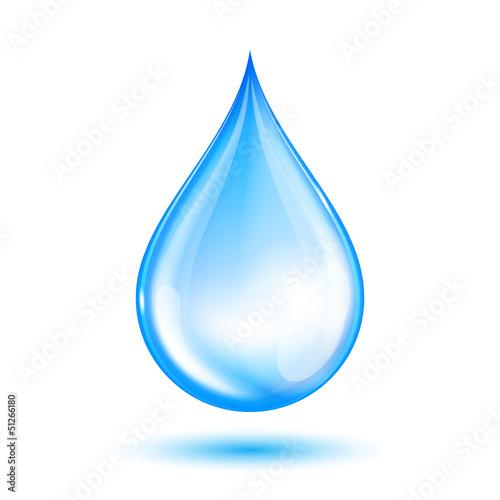 Fotografia, Obraz  Blue shiny water drop