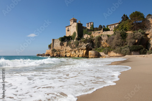 Beach and castle of Tamarit