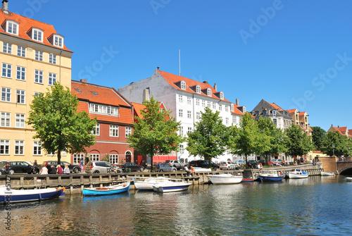 Copenhagen. Beautiful quay in Christianshavn Canvas Print