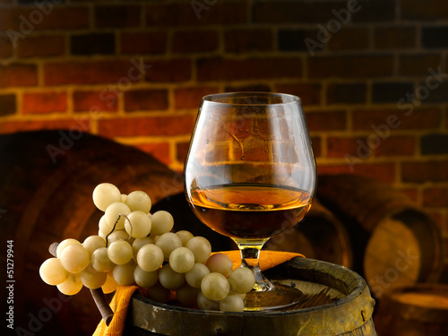 Calice di Cognac Canvas Print