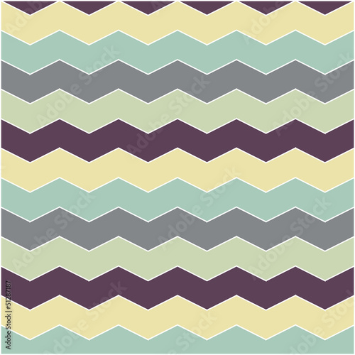 Photo sur Aluminium ZigZag abstract retro geometric pattern