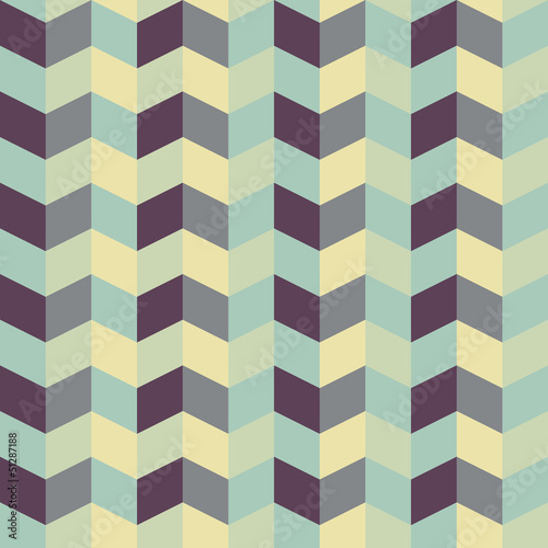 Poster ZigZag abstract retro geometric pattern