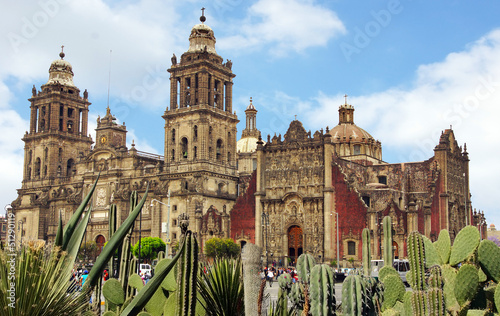 Autocollant pour porte Mexique cathédrale de Mexico