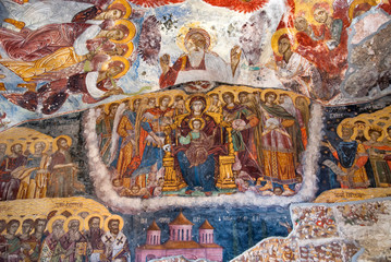 Ancient religious paintings in Christianity in Trabzon Turkey