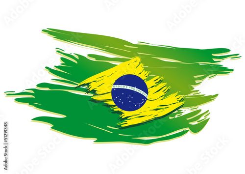 Fotografie, Obraz  brazil flag stylized