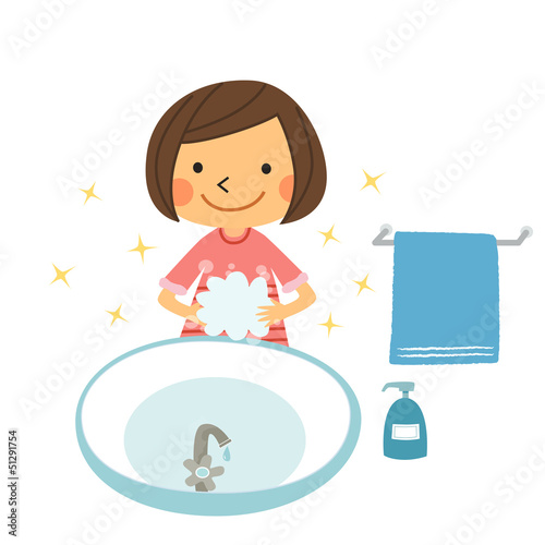 Fotografía  手を洗う女の子