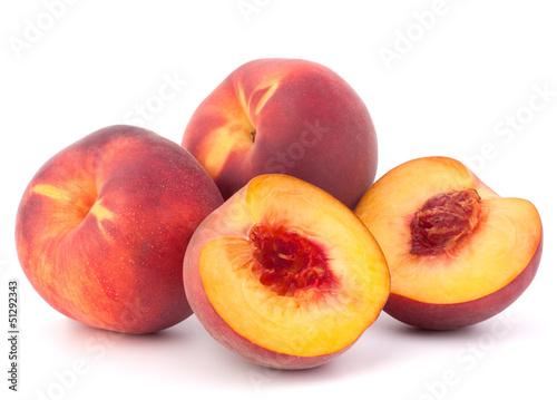 Foto op Aluminium Vruchten Ripe peach fruit