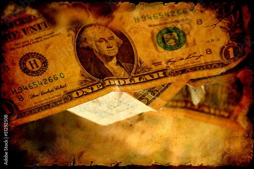 Papiers peints Affiche vintage Retroplakat - Dollars V
