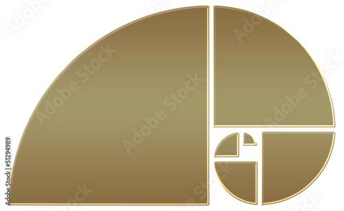 Fibonacci Spirale, Goldener Schnitt