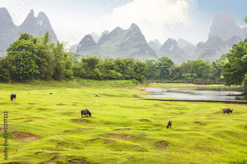 Countryside landscape in Yangsho, China