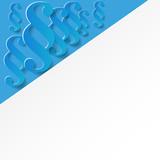 Papier Paragraf Blau Design