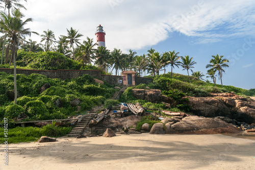 Fotografie, Obraz  Lighthouse on Kovalam Beach