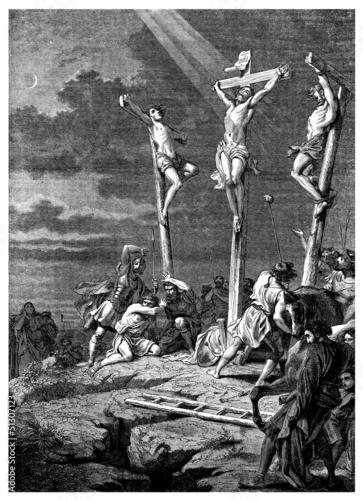 Fotografia, Obraz  Golgotha - Christus Passion - Christianity
