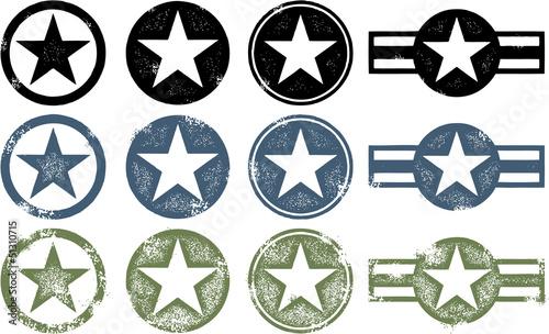 Grunge Military Stars Wallpaper Mural