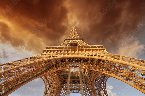 Fototapety, obrazy: Beautiful view of Eiffel Tower in Paris