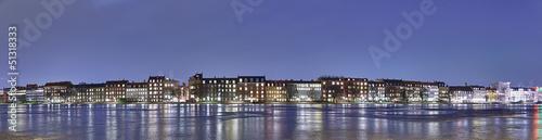 Foto auf AluDibond Stadt am Wasser HDR panorama of waterfront homes. Copenhagen, Denmark