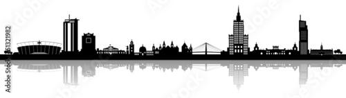 Fototapeta Skyline Warszawa obraz