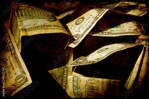 Papiers peints Affiche vintage Retroplakat - Dollars IV
