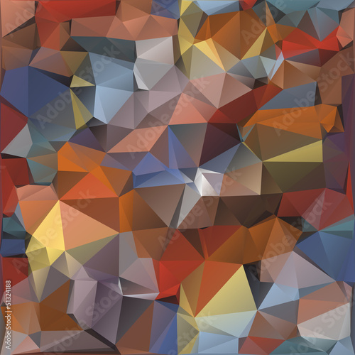 Poster ZigZag Geometric pattern, triangles background.