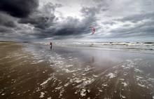 Kitesurfer On The Beach