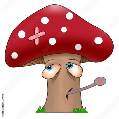 Valokuva  get well soon sick mushroom