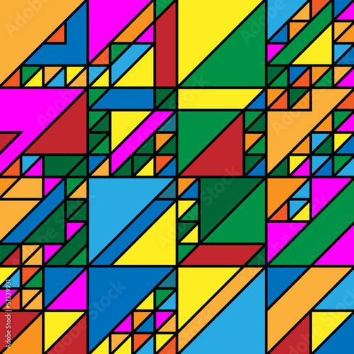Foto op Aluminium ZigZag Abstrakte geometrische Gestaltung