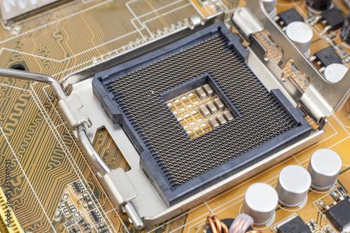 Fotografie, Obraz  Processor socket on motherboard