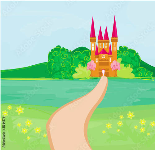 Poster Kasteel Magic Fairy Tale Princess Castle