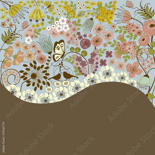 Fototapeta na wymiar Floral background