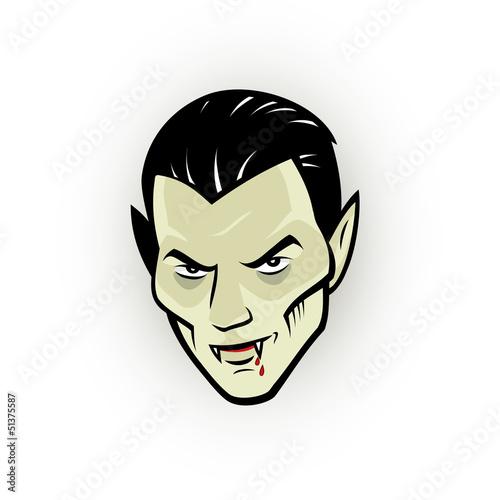 Fotografie, Obraz  Vampire head