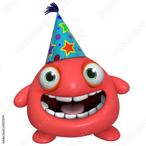 Poster de jardin Doux monstres 3d cartoon cute holiday red monster