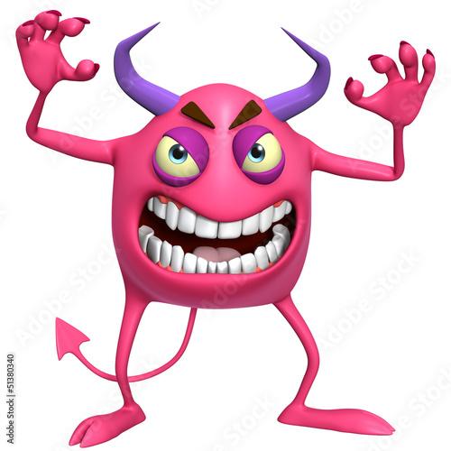 Foto op Aluminium Sweet Monsters 3d cartoon hallowen monster