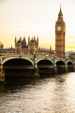 Fototapeta Big Ben - Big Ben Clock Tower and Parliament house at city of westminster,