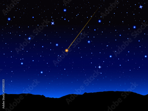 Recess Fitting Heaven Starry sky and mountain landscape