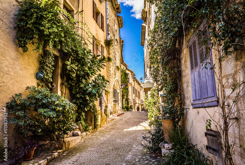 A narrow street of Saint-Paul-de-Vence