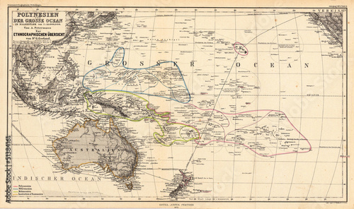 Photo Pacific old map
