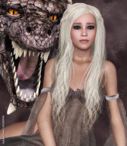 Fotobehang Draken Lady Dragon
