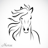 Vector of a horse on white background. Farm Animal. Cows logos or icons. Easy editable layered vector illustration.